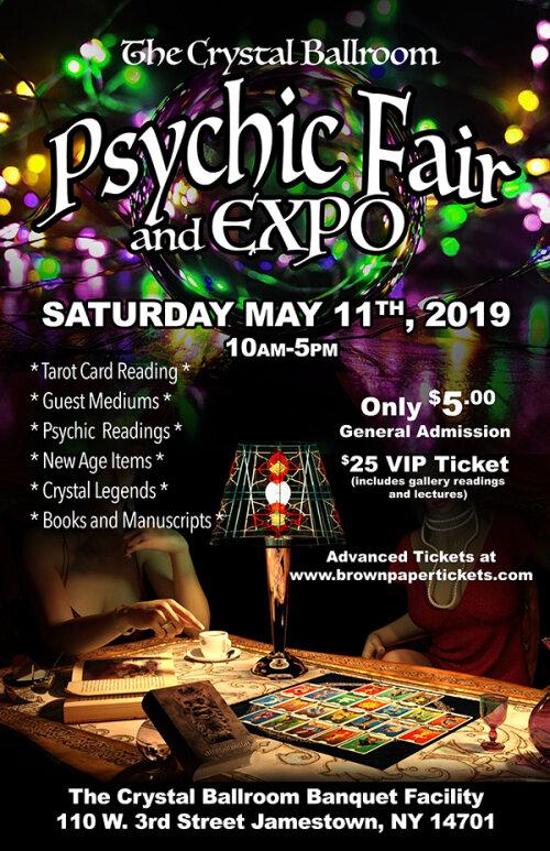 Crystal Ballroom Psychic Faire and Expo, Jamestown, NY   Chautauqua