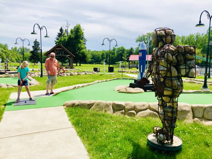 Putt Putt at Midway State Park